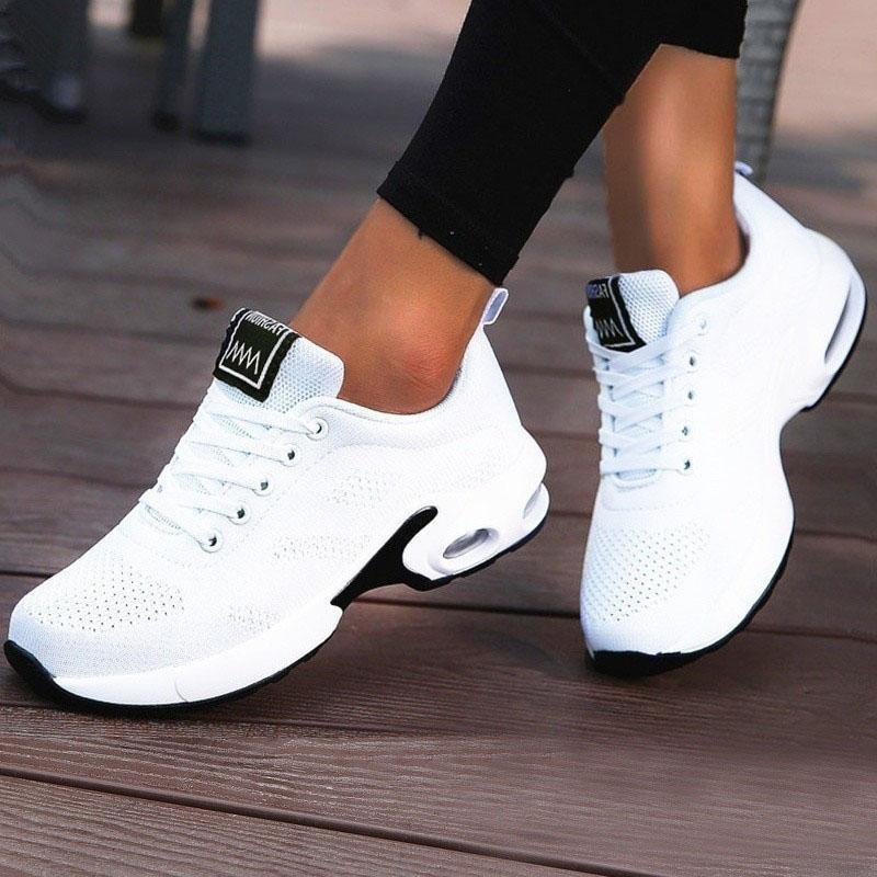 Women's Flyknit Mesh Casual Outdoor Athletic With Lace-up Shoes