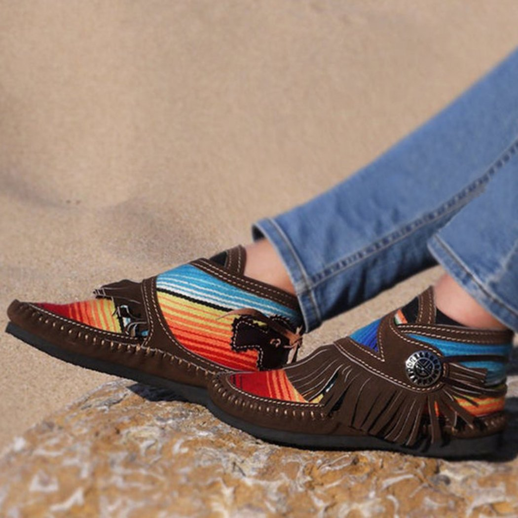 🔥$24.99 Clearance Sale🔥 Cowgirl Leather Moccasins