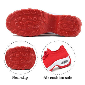 Women's Flying Woven Non-slip Breathable Comfortable Running Shoes