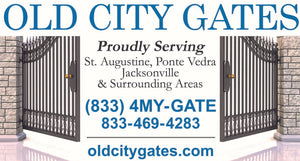 Old City Gates Proudly Serving St. Augustine, Ponte Vedra, Jacksonville, Florida and Surrounding Areas 833-4MY-GATE or 833-469-4283 -