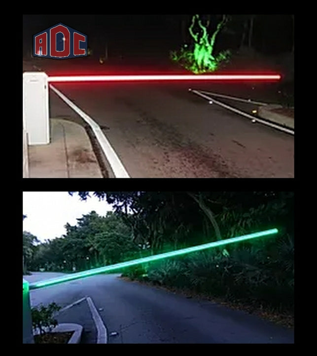 15' LED Illuminated Barrier Gate Kit- Dual Sided