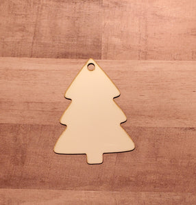 Set of 5 or 10 tree ornament hardboard blanks, sublimation hardboard blank, SINGLE or DOUBLE-sided ornament sublimation blank