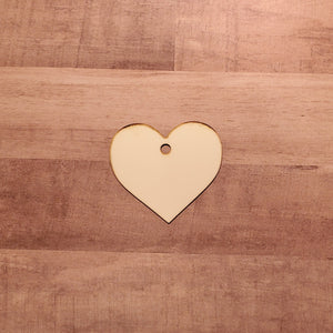 Set of 5 or 10 heart ornament hardboard blanks, sublimation hardboard blank, SINGLE or DOUBLE-sided heart ornament sublimation blank