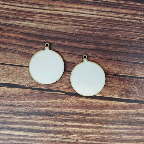 Sublimation hardboard blanks, ornament earring sublimation blanks, SINGLE or DOUBLE-sided dangle earring shape blanks