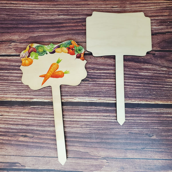 Wood GARDEN STAKES, wood garden stakes for sublimation, sublimation blank