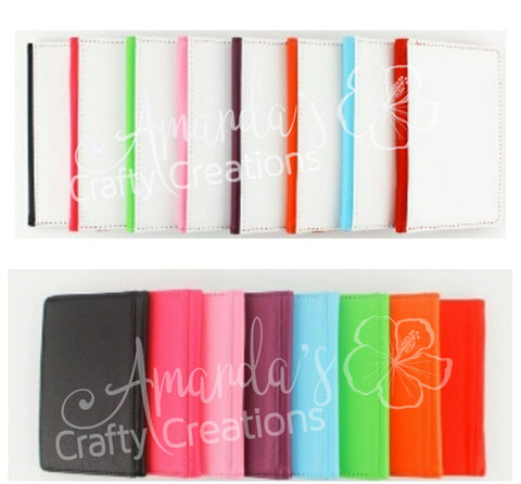 Sublimation ready PU Leather Passport Cover RTS
