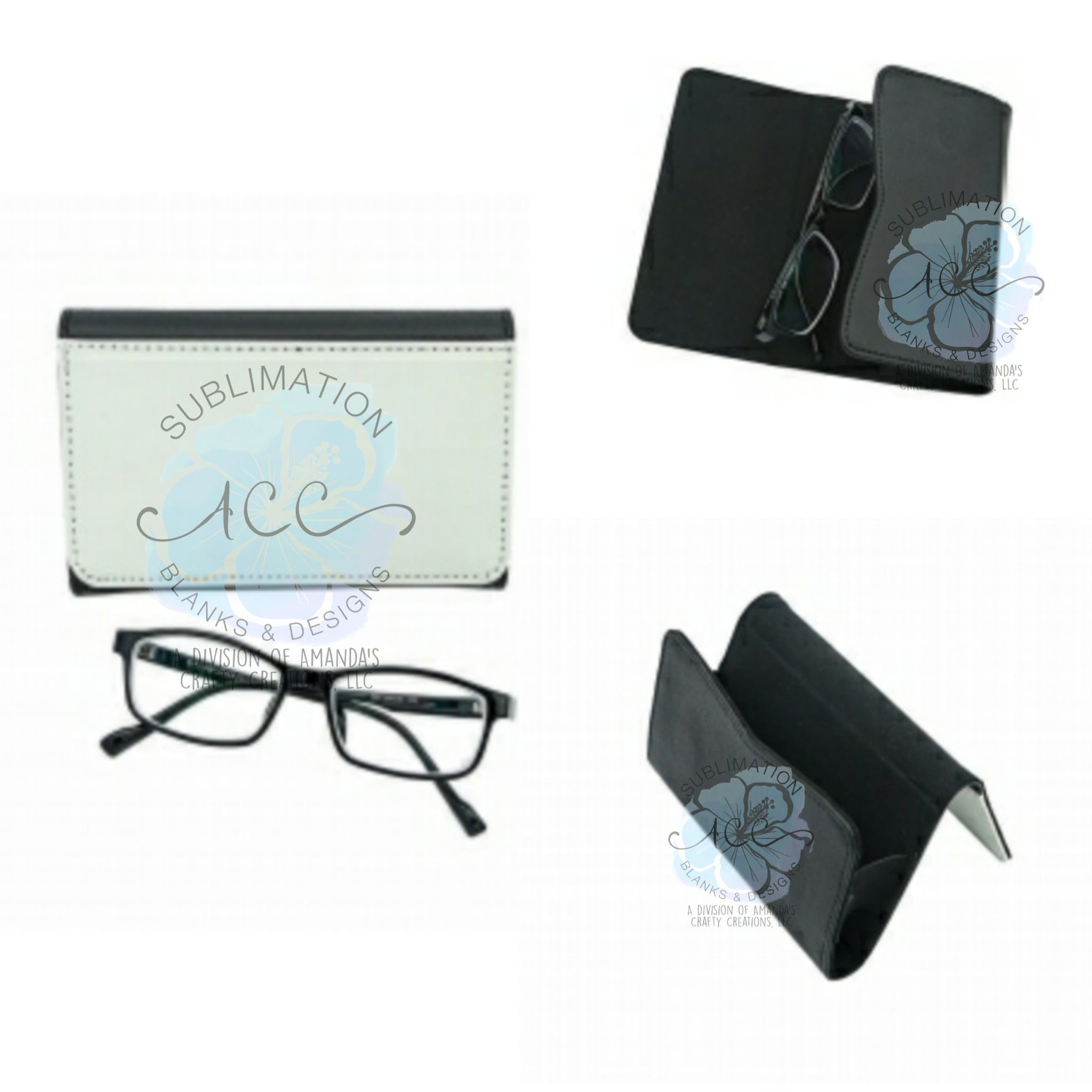 Sublimation leather eyeglass/sunglass case blanks RTS
