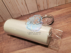 SHRINK WRAP clear or white for 20 oz Sublimation ready skinny tumbler