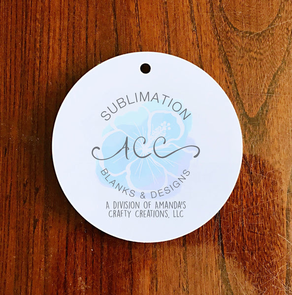 Sublimation ALUMINUM ornament blanks, white double sided RTS