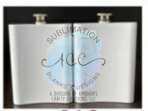 Sublimation ready FLASK metal double walled PREORDER