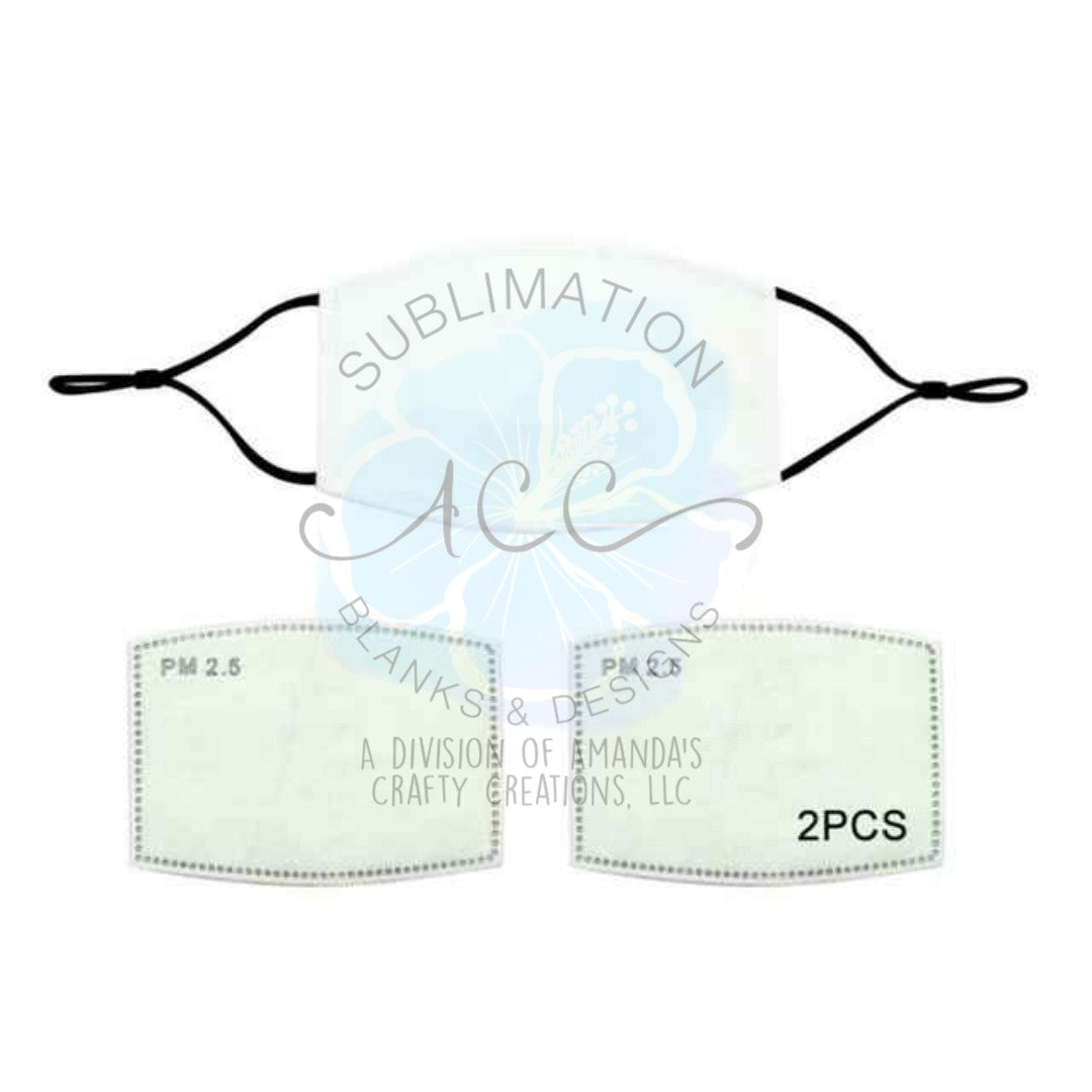 SET OF 2 FILTERS for 2 layer sublimation masks RTS