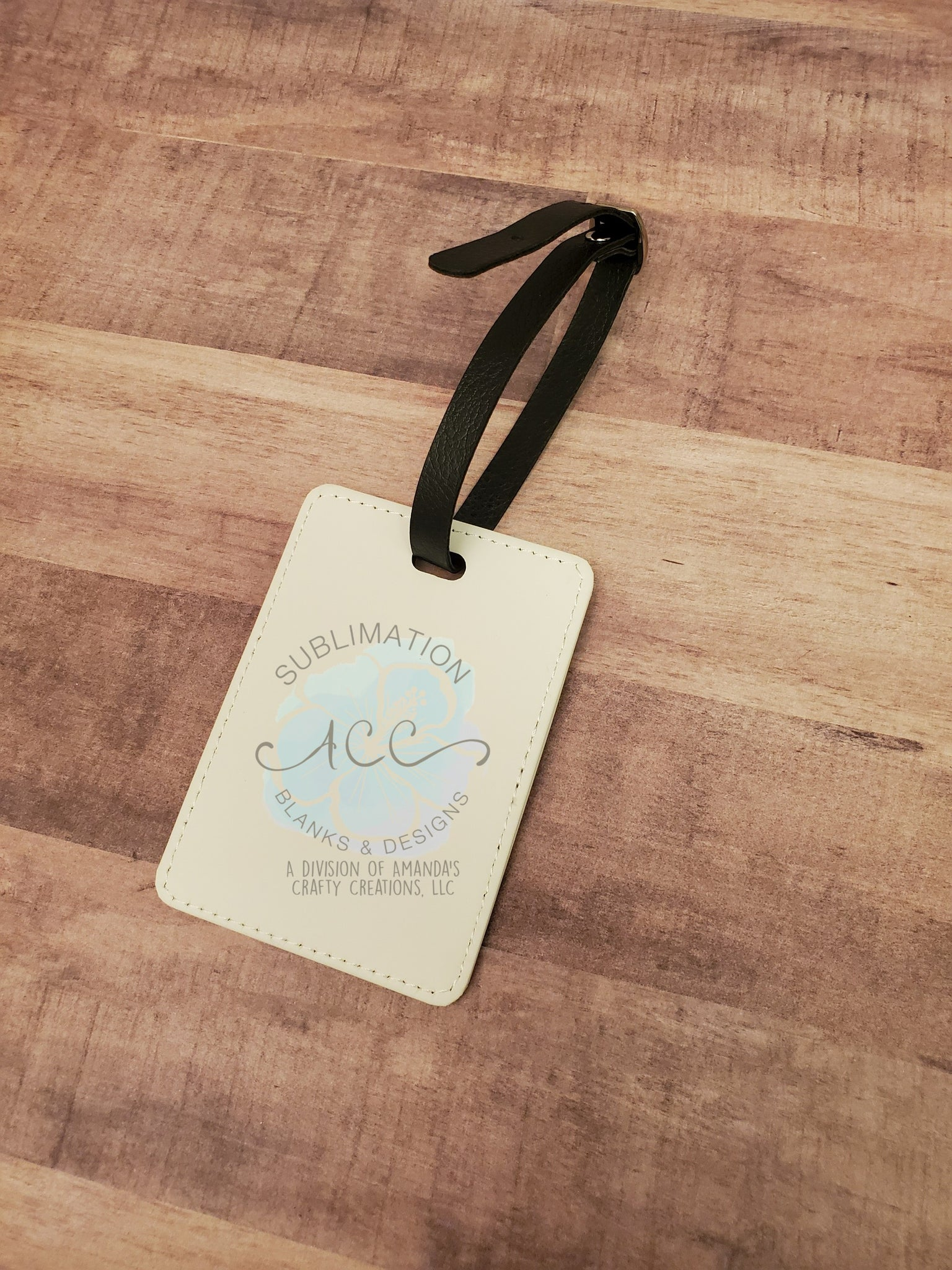 Double sided sublimation leather luggage tag RTS