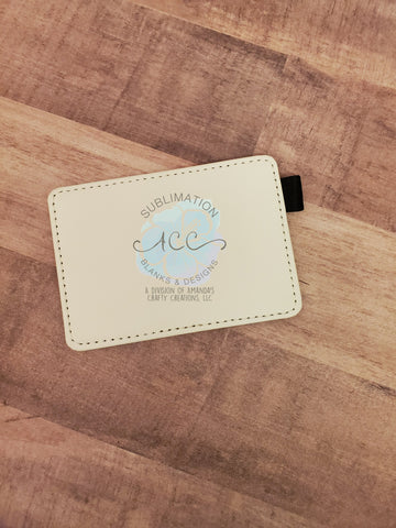Single sided sublimation leather card holder RTS