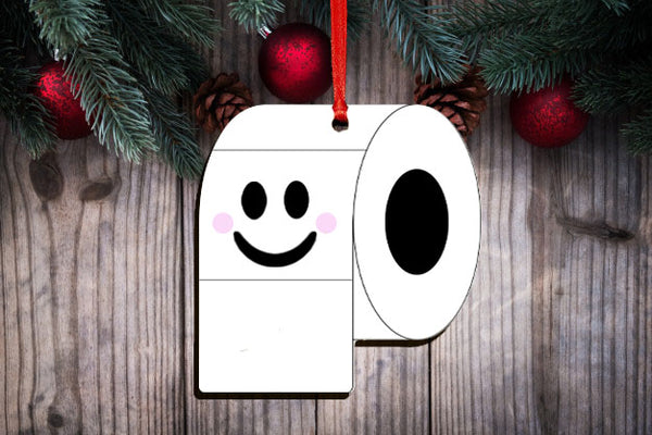 Set of 5 or 10 Toilet Paper ornament hardboard blanks, sublimation hardboard blank, SINGLE or DOUBLE-sided ornament sublimation blank