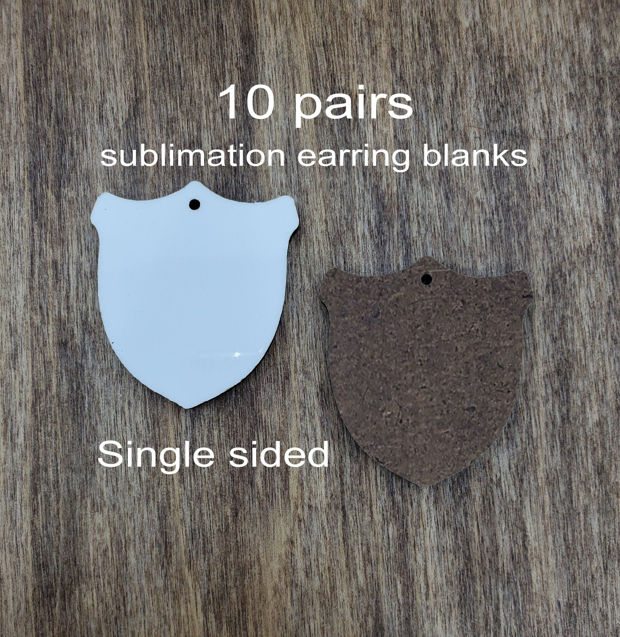 "Sublimation hardboard blanks, 1.25""  badge shaped sublimation blanks, SINGLE sided badge earring blanks for sublimation"