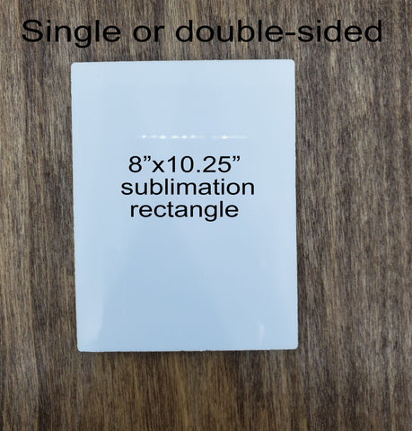"Sublimation rectangle hardboard blanks, 8""x10.25"" rectangle sublimation hardboard blank, rectangle sublimation blank"