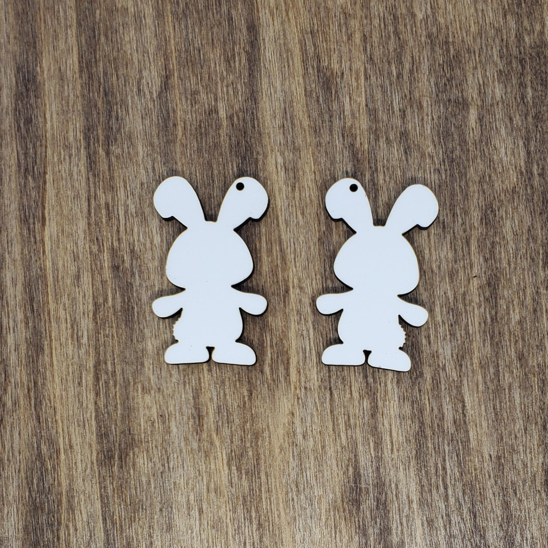 "Sublimation hardboard blanks, 1.7"" bunny sublimation blanks, bunny earring blanks for sublimation"
