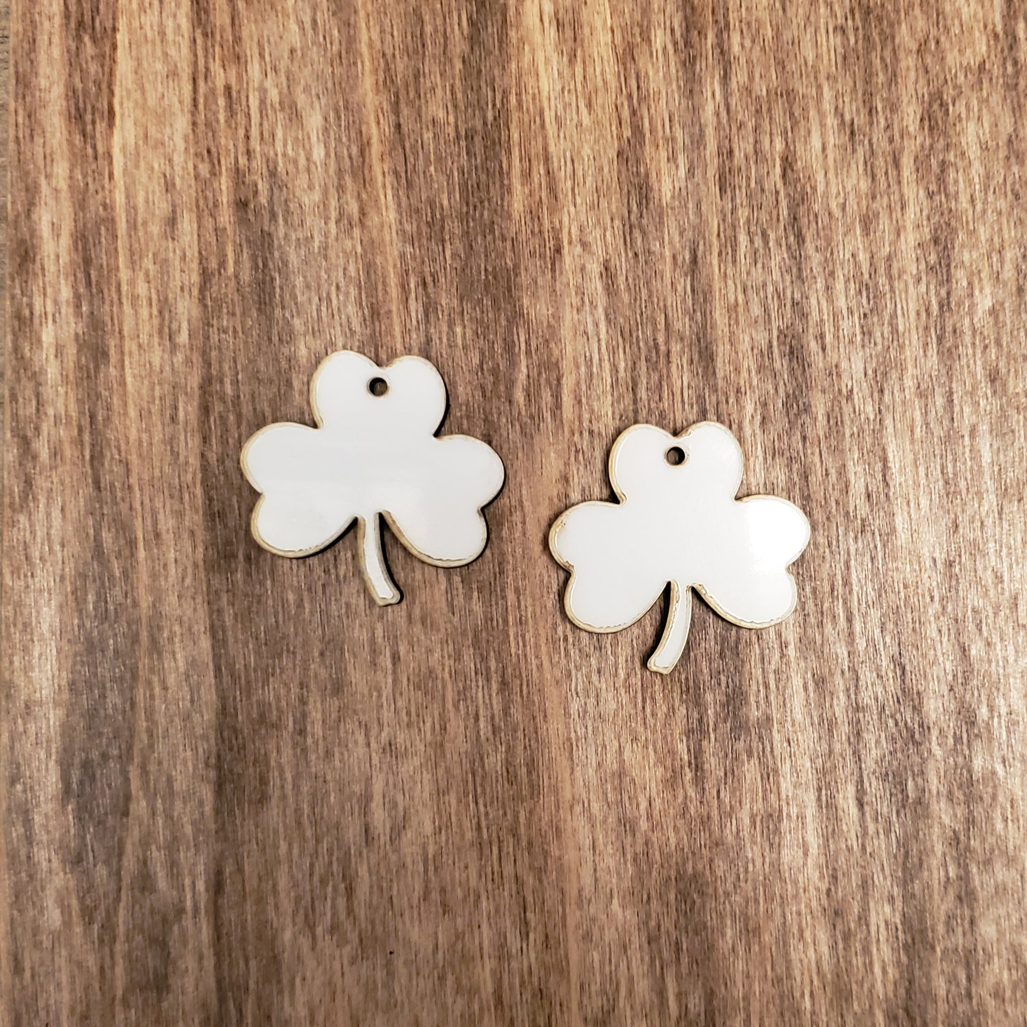 Sublimation hardboard blanks, shamrock earring sublimation blanks, SINGLE or DOUBLE-sided shamrock dangle earring shape blanks