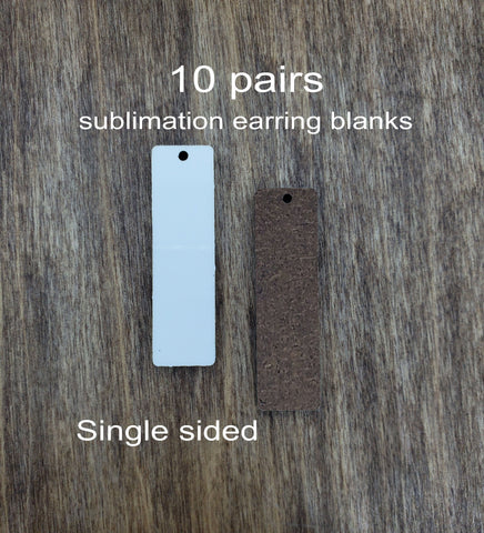 Sublimation hardboard blanks, bar earring sublimation blanks, drop bar earring blanks for sublimation