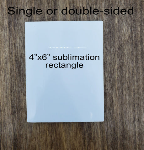 "Sublimation rectangle hardboard blanks, 4""x6"" rectangle sublimation hardboard blank, rectangle sublimation blank"