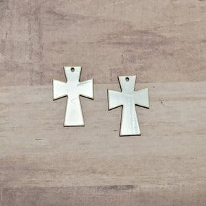 Sublimation hardboard blanks, Cross2 earring sublimation blanks, SINGLE or DOUBLE-sided cross earring shape blanks for sublimation