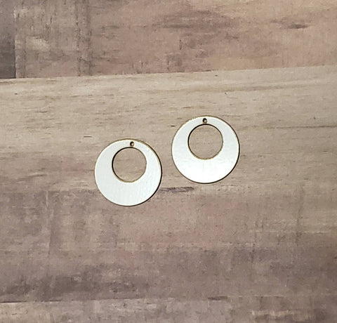 Sublimation hardboard blanks, circle cutout earring sublimation blank, SINGLE or DOUBLE-sided circle earring shape blanks for sublimation