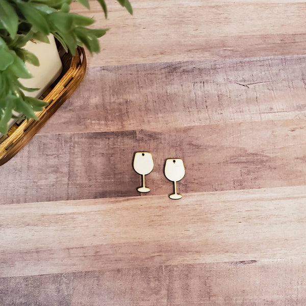 Sublimation hardboard blanks, wine glass earring sublimation blanks, SINGLE or DOUBLE-sided wine glass shape earring blanks for sublimation