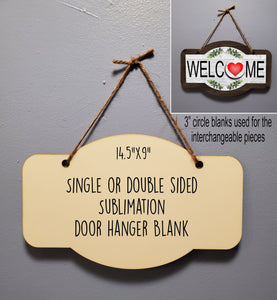 Door Hanger Sublimation hardboard blanks, Large door hanger sublimation hardboard blank, Door hanger sublimation blank
