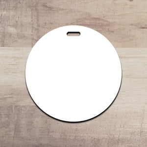 "Set of 5 or 10 circle hardboard blanks, 3.5"" circle sublimation hardboard blank, DOUBLE-sided circle luggage tag sublimation blank"
