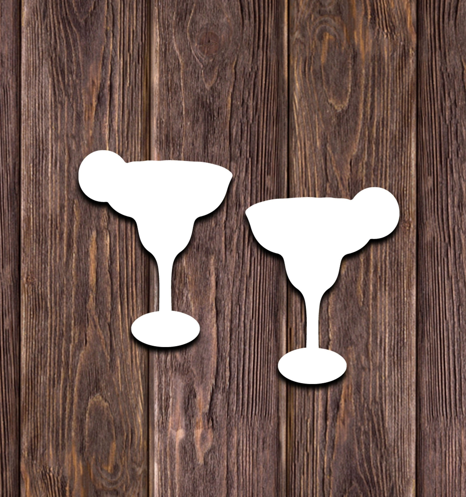 Sublimation hardboard blanks, margarita glass earring sublimation, SINGLE or DOUBLE-sided margarita shape earring blanks for sublimation