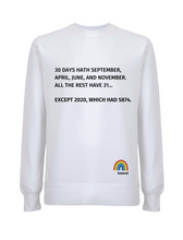 Load image into Gallery viewer, 30 Days Hath September Jumper - Various Colours - Adult