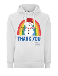 Snowman Thank You NHS Hoodie - Various Colours - Adult