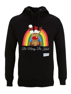 Kids Reindeer Be Merry Be Kind NHS Hoodie - Various Colours