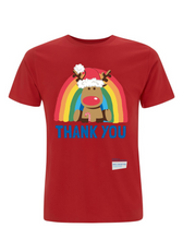 Load image into Gallery viewer, Kid's Reindeer Thank You NHS Christmas T-Shirt