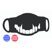 Load image into Gallery viewer, Single Face Covering - White Fangs