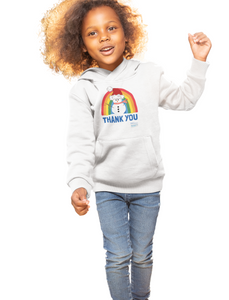 Kids Snowman Thank You NHS Hoodie - Various Colours