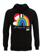 Load image into Gallery viewer, Kids Santa Hat Be Merry Be Kind NHS Hoodie - Various Colours