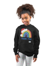 Load image into Gallery viewer, Kids Santa Hat Thank You NHS Hoodie - Various Colours