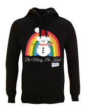 Load image into Gallery viewer, Snowman Be Merry Be Kind NHS Hoodie - Various Colours - Adult