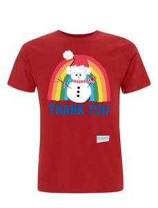 Snowman Thank You NHS T-Shirt - Various Colours - Adult