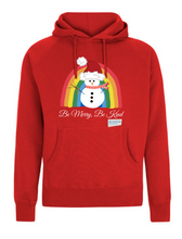 Load image into Gallery viewer, Kids Snowman Be Merry Be Kind NHS Hoodie - Various Colours