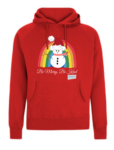 Kids Snowman Be Merry Be Kind NHS Hoodie - Various Colours