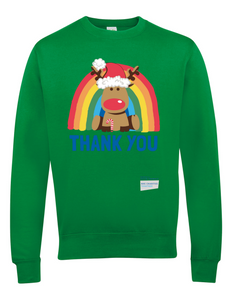 Reindeer Thank You NHS Jumper - Various Colours - Adult
