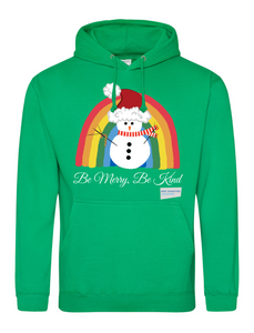 Snowman Be Merry Be Kind NHS Hoodie - Various Colours - Adult
