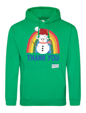 Load image into Gallery viewer, Snowman Thank You NHS Hoodie - Various Colours - Adult