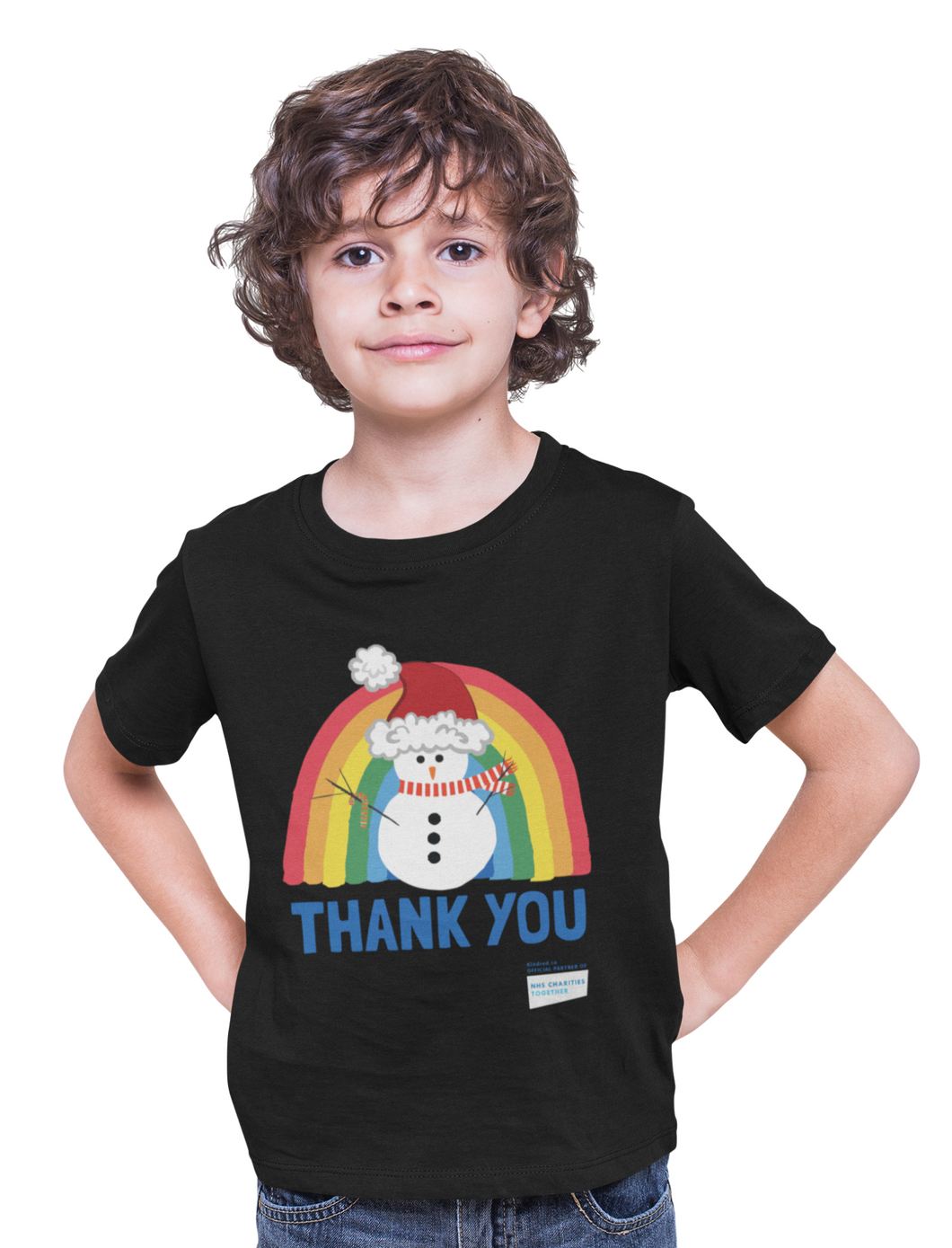 Kid's Snowman Thank You NHS Christmas T-Shirt