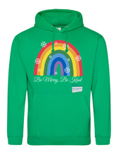 Load image into Gallery viewer, Be Merry Be Kind Thank You NHS Hoodie - Various Colours - Adult