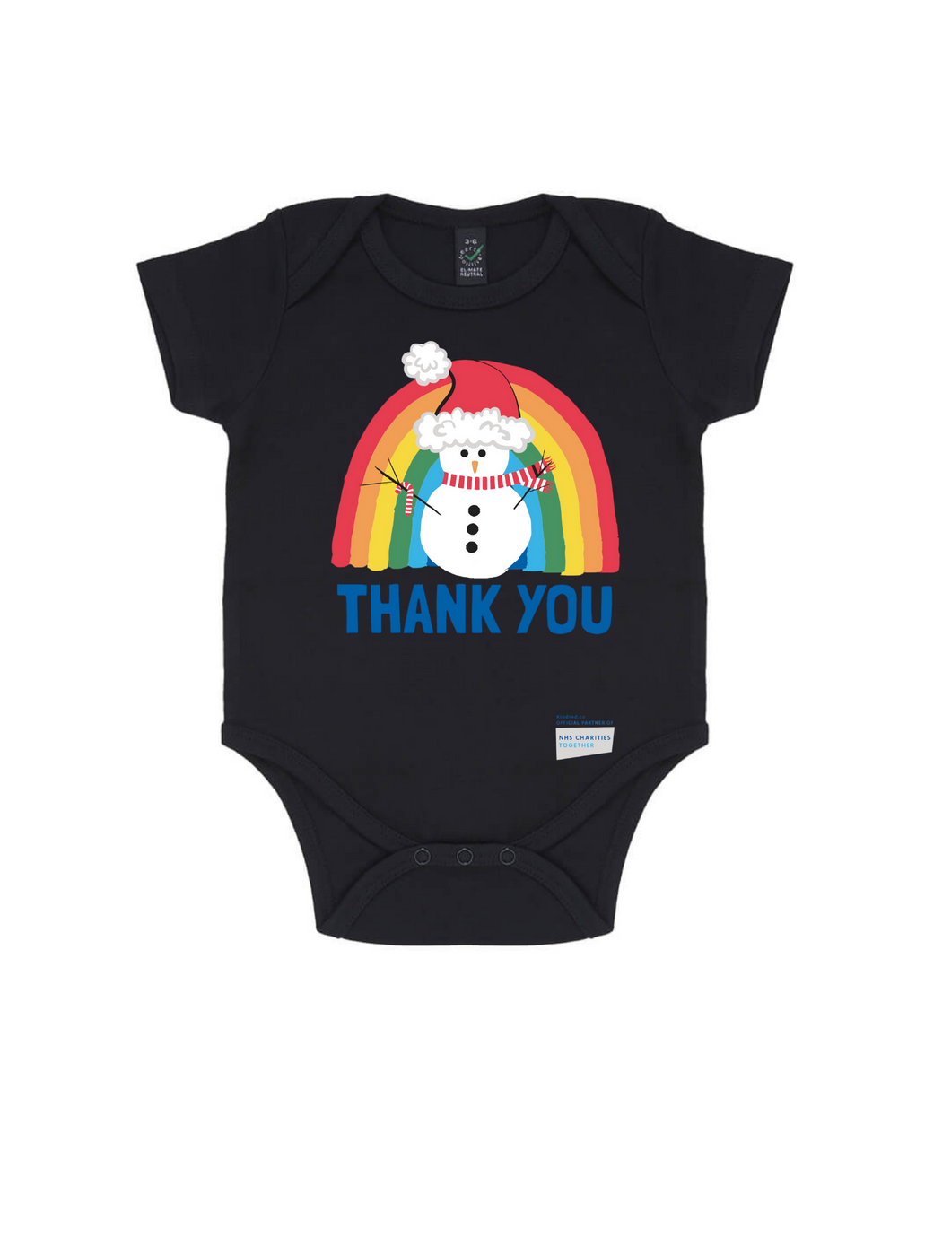 Snowman Thank You NHS Babygrow - Various Colours