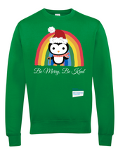 Load image into Gallery viewer, Kids Penguin Be Merry Be Kind NHS Sweatshirt - Various Colours