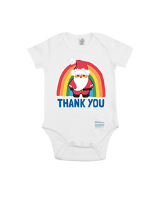 Santa Thank You NHS Babygrow - Various Colours